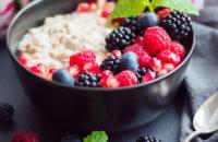 oatmeal and fresh fruit