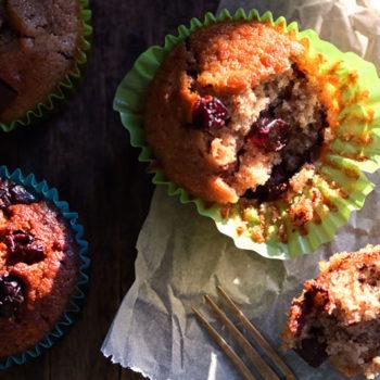 Whole wheat cranberry orange muffins